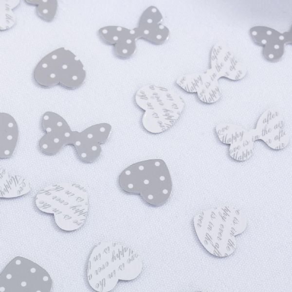 Chic Boutique Table Confetti - White & Silver (14g)